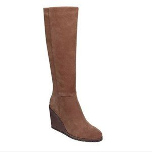 ANTHROPOLOGIE Spelndid Wedge Suede Brown Boots